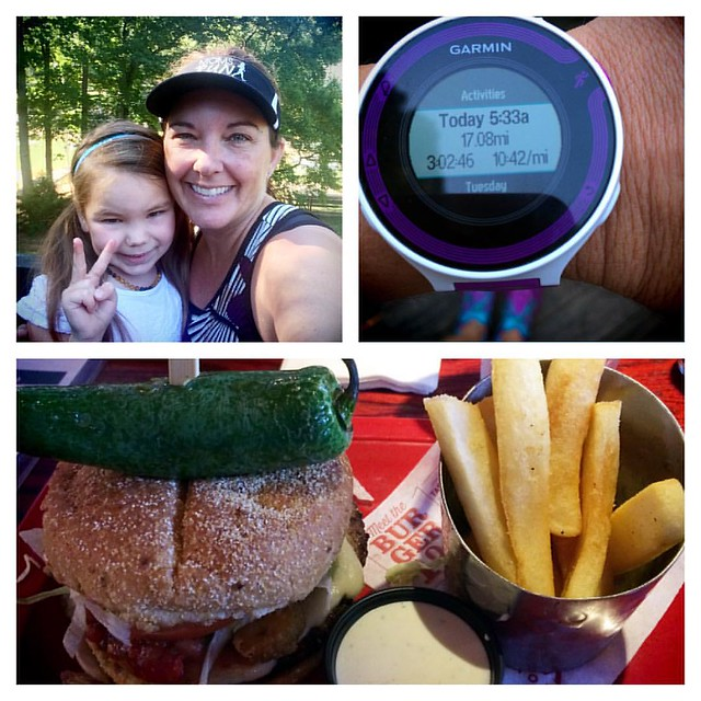 17 hilly miles done with the lovely @kathymagnanti & temps were excellent!  #runger #INKnBURN #hana #mrtt #marathontraining #yumm #getinmybelly