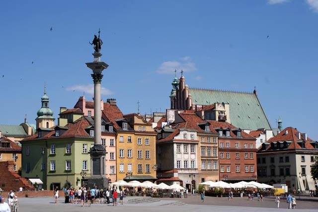 Place du chateau, plac Zamkowy de Varsovie