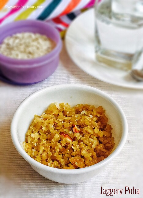 Jaggery Poha for babies & toddlers4