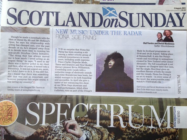 Olaf Furniss and Derick Mackinnon Scotland On Sunday, Spectrum Magazine, 9 August 2015, Fiona Soe Paing