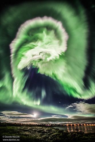VCSE - Mai kép - Sarki fény Izland felett