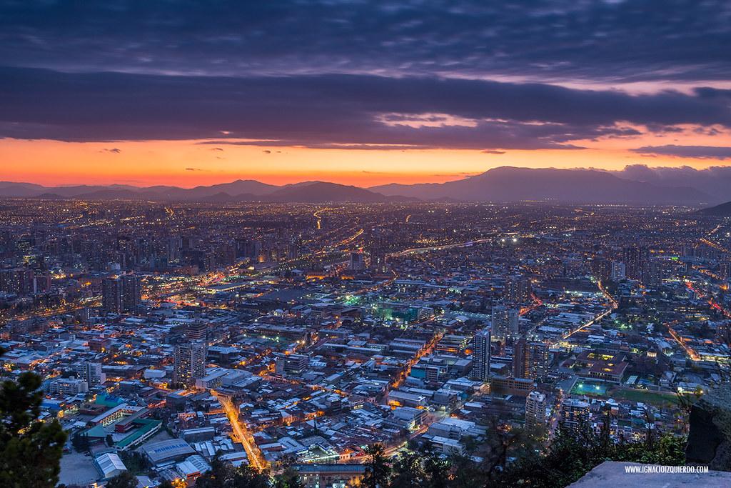 Sunset over Santiago de Chile 05