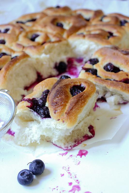 Blueberry swirl rolls