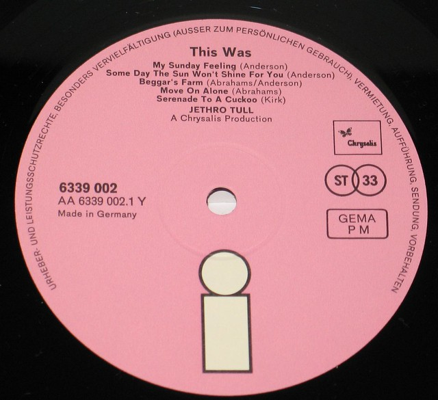 "JETHRO TULL THIS WAS PINK ISLAND FOC 12"" Vinyl LP"