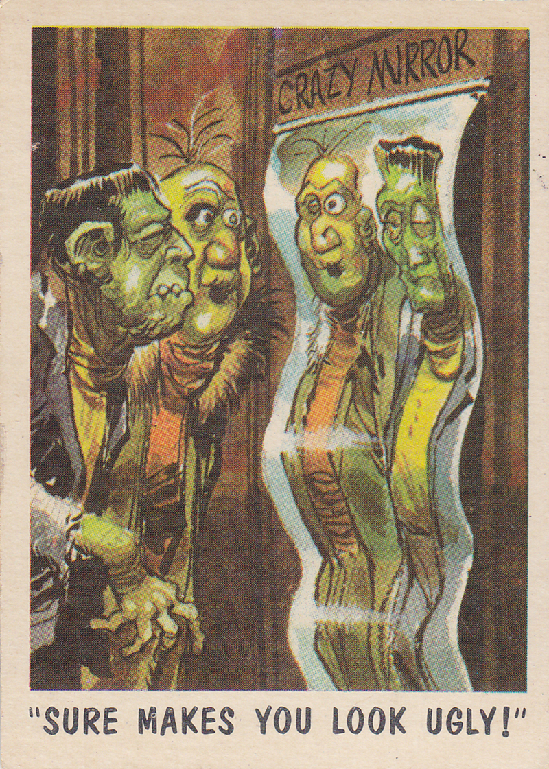 """You'll Die Laughing"" Topps trading cards 1959,  illustrated by Jack Davis (42)"
