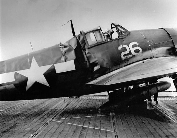 Hellcat F6F-3 from the squadron VF-15