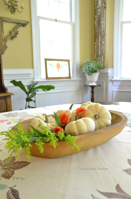 Dough Bowl and Pumpkin Centerpiece - Housepitality Designs