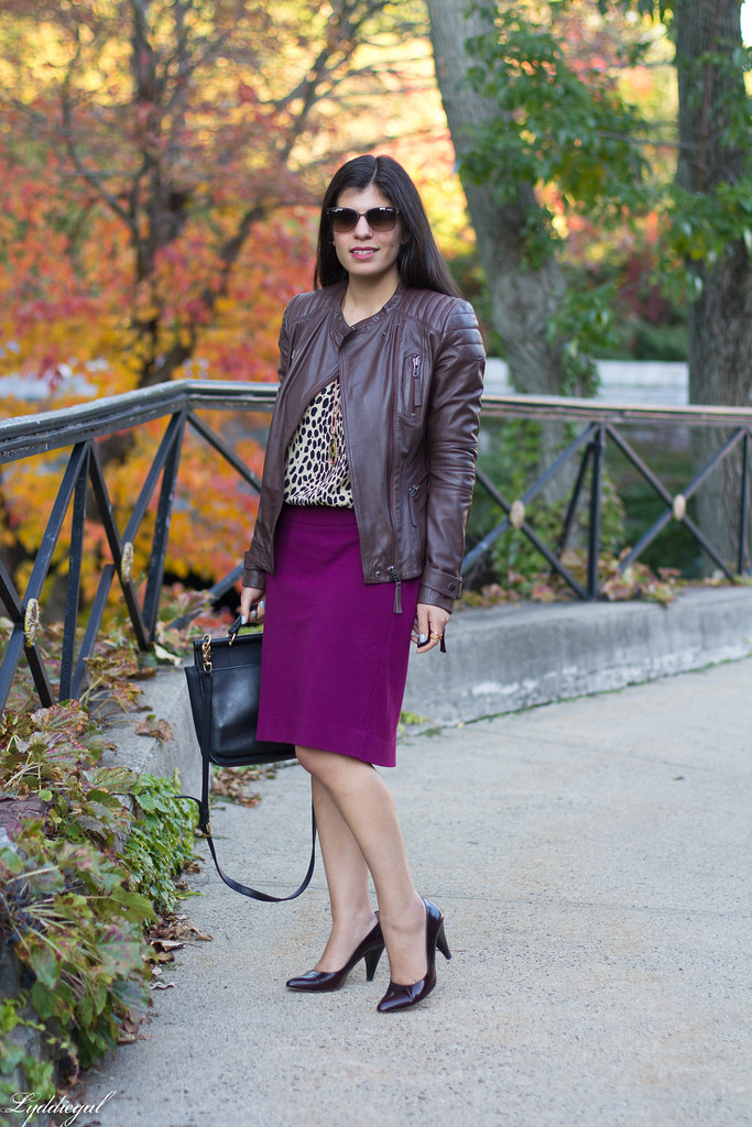 purple pencil skirt, leopard blouse, leather jacket-1.jpg