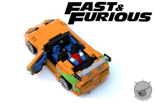 Fast And Furious Toyota Supra interior interior - 10-wide - Lego