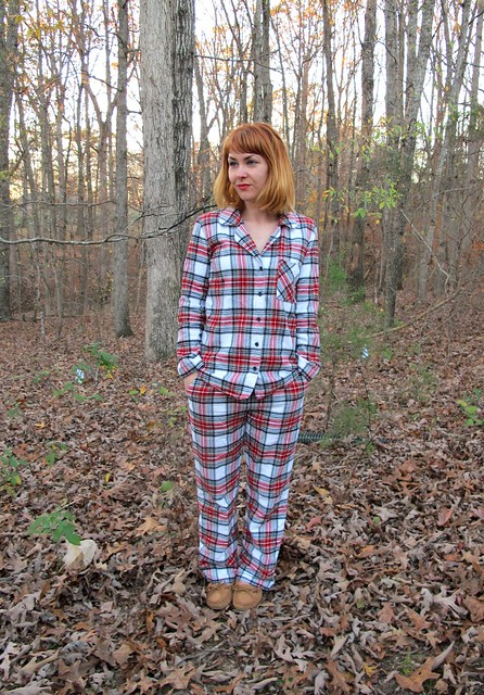Flannel Carolyn PJs - front