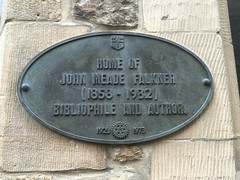 Photo of John Meade Falkner black plaque