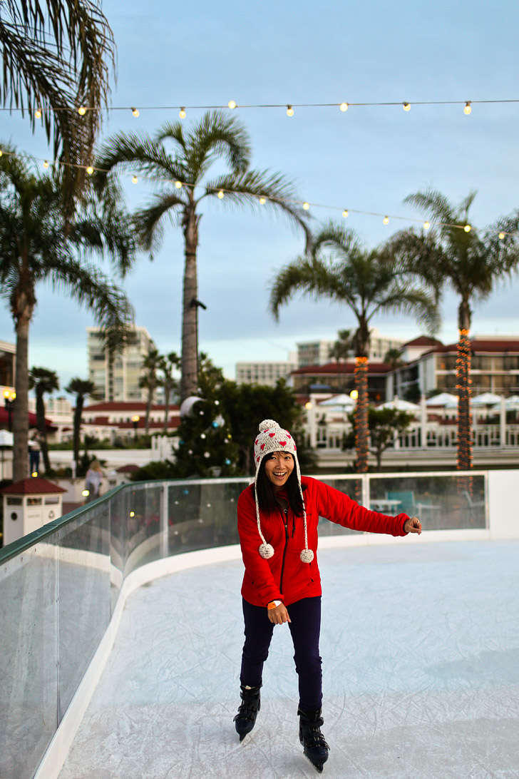 Hotel Del Coronado Ice Skating By the Sea.