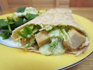 Edamame Hummus & Tofu Wraps