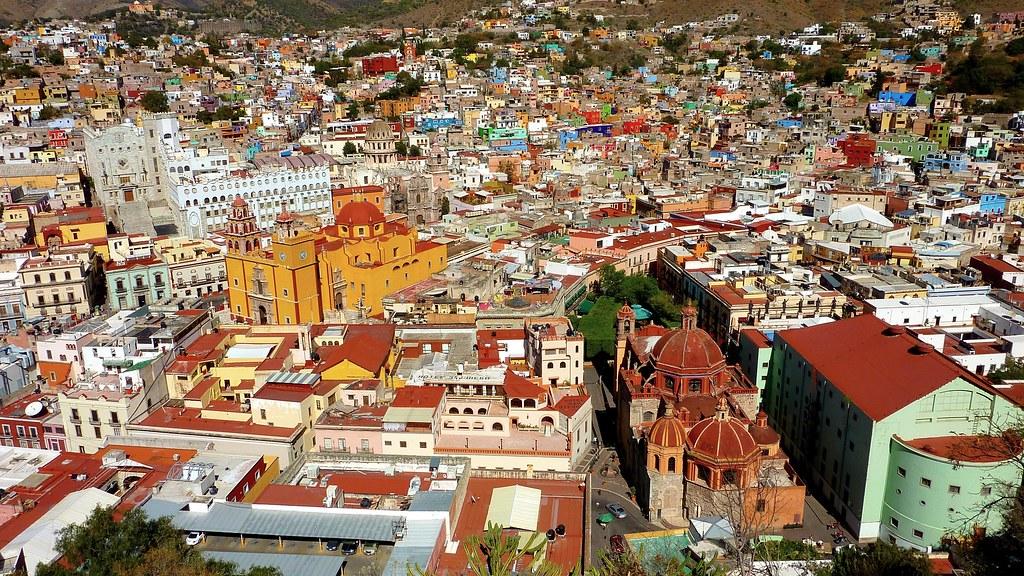 Guanajuato, Mexico, in full frontal colour exposure