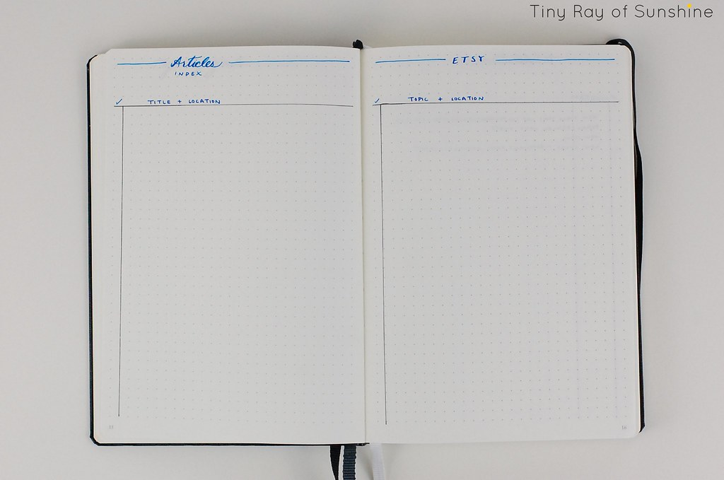 January 2016 Bullet Journal Set Up
