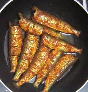 Mathi sardine fry - steps 3 inpan