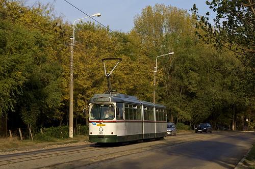 man tram romania streetcar iasi augsburg ratp 801 linie3 rumänien trambahn tramvai iași gt8 strasenbahn ratc einrückfahrt achtachser typmannheim ratpiasi