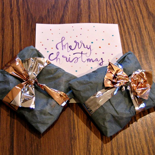 Copper, Silver and Gray Packages