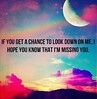 If you get a chance to look down upon me, hope you know l am missing you?#withgreatlosscomesgreatstrengh #loss #love #nearfarwhereveryouare #heart