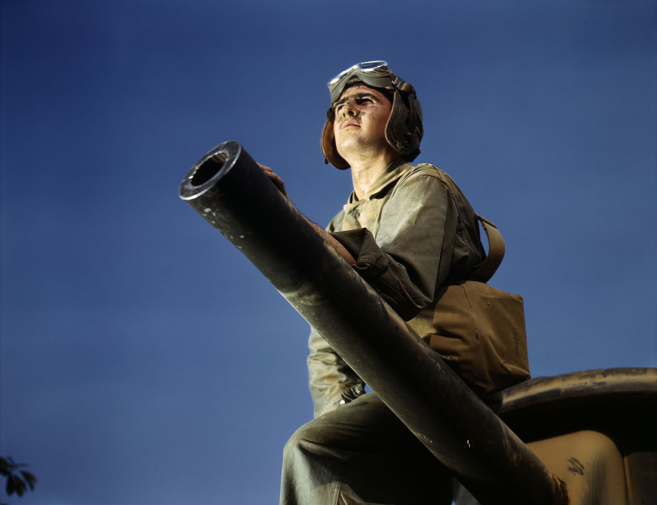 Crewman of an M-3 tank, Ft. Knox, KY, 1942