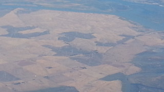 Hills filled with wind turbines in California