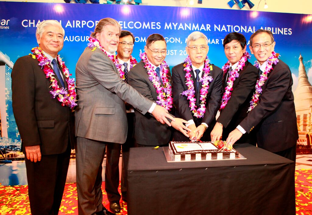 Myanmar National Airlines Inaugural Flight to Singapore Touches Down at Changi International Airport - Alvinology