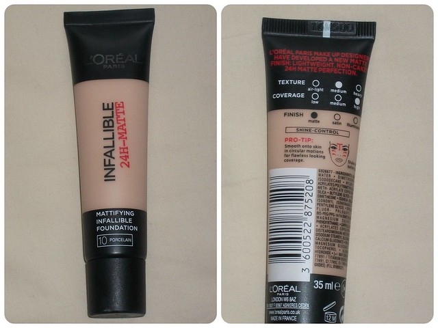 L'Oreal Infallible 24H Matte Foundation Review