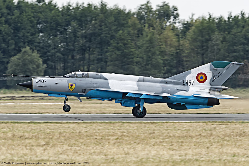 Romanian Air Force MiG-21 LanceR C take-off roll
