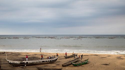 africa village ghana fisher afrika jamestown accra