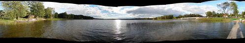 bridge autostitch panorama sun lake ontario canada water rural dock nikon outdoor pano scenic shore lanarkcounty dalhousielake