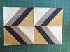 Chevron block - foundation paper piecing free pattern and video tutorial