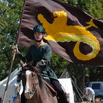Lord Ragnar with the 8 foot banner on Apache