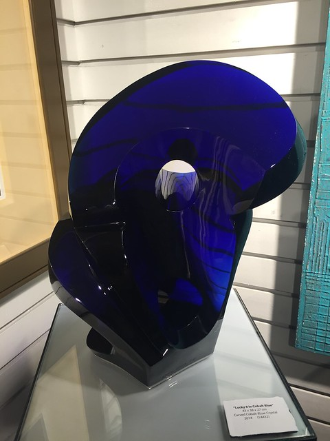 Blue Glass Sculpture by Orlina