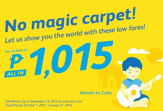 Cebu Pacific Promo September 10 2015