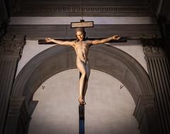 art, symmetry, symbol, sculpture, religion, crucifix, cross, statue,