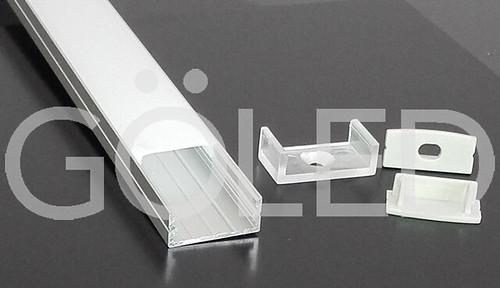 Kit profilo alluminio doppio per barra o strip led 2mt accoglie 2 strisce led ebay - Barra led bagno ...