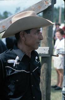 Portrait of Felix Soto accordionists and cowboy - Pierson