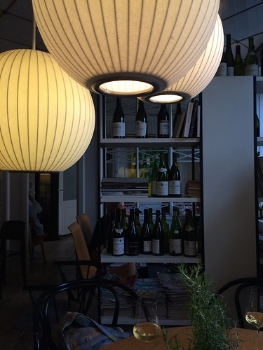 Ven Stranden wine bar table and wine shelves Copenhagen