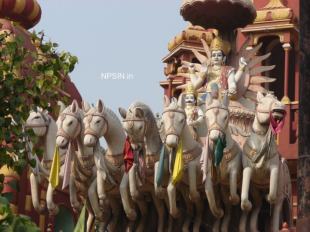 Surya Dev with seven white horses