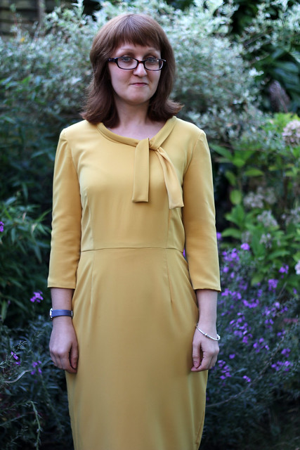 Sew Over It Joan Dress in Mustard Crepe