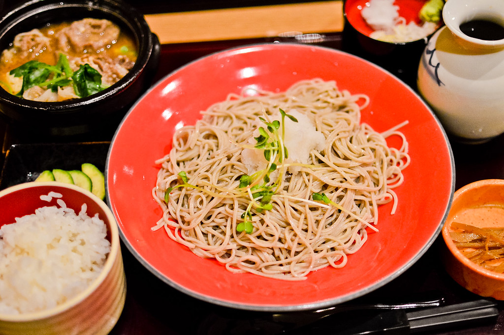 Eating Soba Noodles in Nagano, Japan