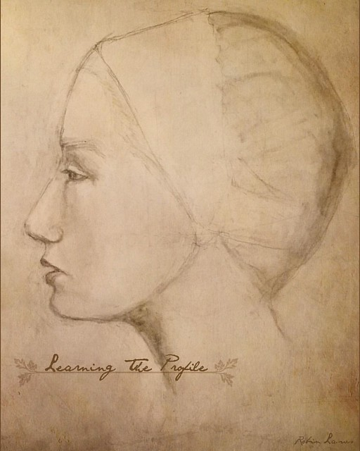 I've been practicing drawing faces in profile for the Let's Face It class and I still have so much to learn! Drawing the profile is the section I will be teaching and it's challenging! Mostly it challenges my courage to face the white paper but i am learn