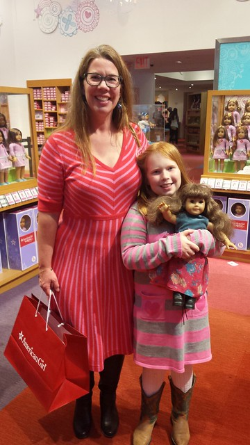 Me and my girl at American Girl Place, NYC.
