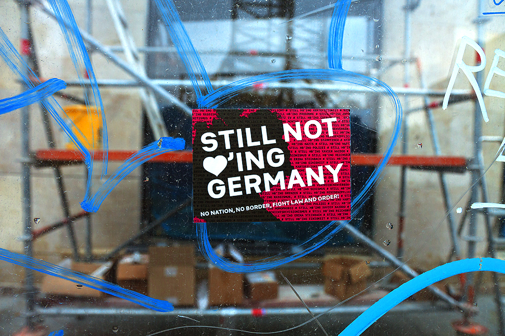STILL NOT luving GERMANY sticker on 10-17-15--Leipzig