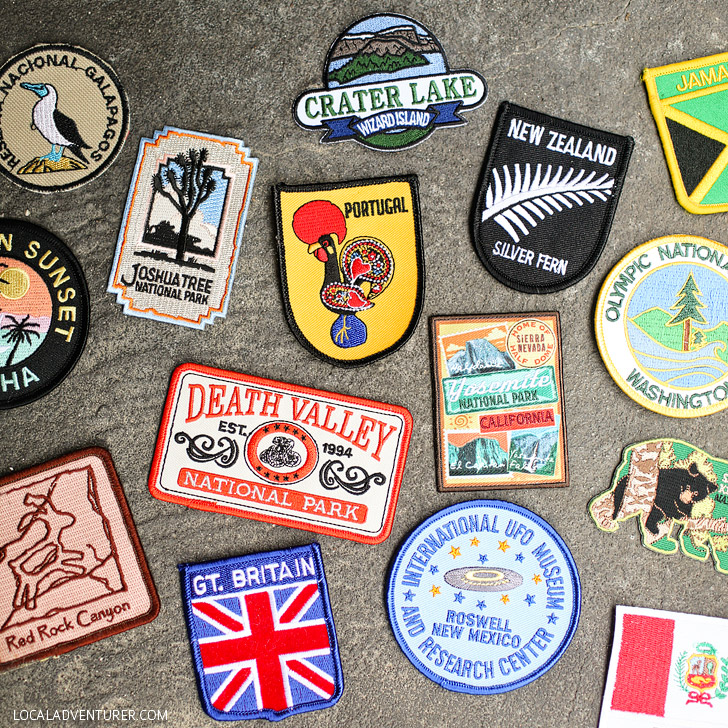 Travel Patches (15 Wonderful Ways to Keep Track of Your Travels).