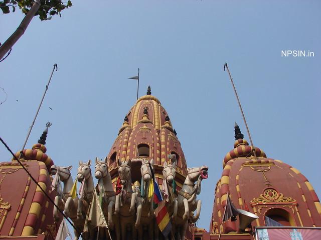 Three main shikhar, Surya Dev in center