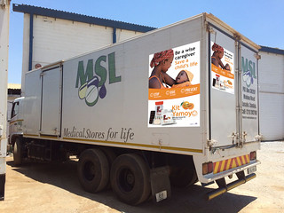 MSL truck with Kit yamoyo advertising (mock-up)