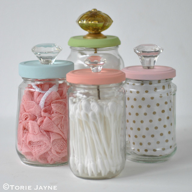 Upcycled Jars with Knobs 3
