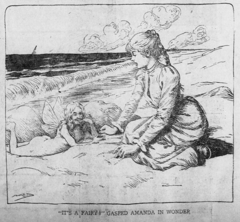 "Walt McDougall - The Salt Lake herald., June 15, 1902, ""It's A Fairy!"" Gasped Amanda In Wonder"