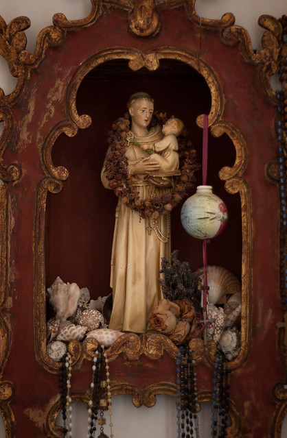 Female saint and baby